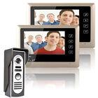 7 Inch Video Door Phone Doorbell Intercom System Kit 1-Camera 2-Monitor Night