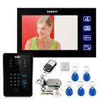 """7"""" LCD Video Intercom Door Phone System Doorbell 1 Camera+Electronic Door Lock"""