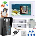 "7"" Wired/Wireless Wifi Video Door Phone Intercom System+Electric Drop Bolt Lock"