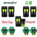 20PCS Batteries Li-ion 18650 Rechargeable Battery &5PCS Charger For Light Lamp P