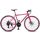 "Lovely Pink 26"" 21 Speed Road Bike Street Bicycle MTB Cycling Double Disc Brake"