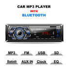 Bluetooth Car Stereo Audio 1DIN In-Dash Receiver SD USB MP3 Music Player FM Aux
