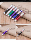 Mini Portable LED Laser Pointer Pen Military Training Cat Toy Keychain QW002