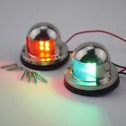 One Pair Red & Green LED Light Bow Navigation Light Stainless Housing Light 12V
