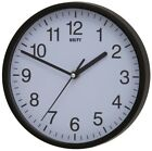 """SILENT SWEEP WALL CLOCK BY UNITY RADCLIFFE CLOCK IN BLACK AND WHITE 8"""" 20CM"""