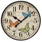 "Westclox Round Butterfly Wall Clock 12"" in diameter New"