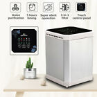 AUGIENB Mini Ionic Air Purifier Negative Ion Generator Timing & 3in1 Filter USA