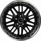 4 GWG Wheels 18 inch Black Machined AMAYA Rims fits CHEVY CAMARO LS - LT 2010-15