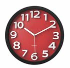 """Wall Clock with Raised Contrasting Numerals and Silent Sweep Quiet Movement 13"""""""