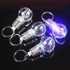 Cute Mini Light Bulb Colorful LED Flashlight Lamp Key Ring Keychain Lamp Torch