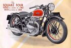 ARIEL SQUARE FOUR 4 MOTORCYCLE SERVICE & PARTS MANUALs 100pgs with Brochure Art