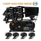 "1080P 4CH GPS 2.0MP HD 2TB Hard Disk Car DVR Video Recorder 7"" Monitor 4* Camera"