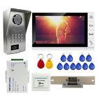 "9"" Video Intercom Doorbell Phone kit RFID Code Night Vision Camera Strike Lock"