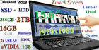 3D-Design FHD TOUCH Thinkpad W510 i7-Quad 256GB-SSD+2TB 16GB 15.6 ColorSensor!!