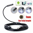Waterproof 5.5/7mm 6LED Android Endoscope Borescope  Inspection Camera Scope SMA