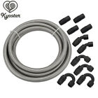 10AN 20Ft SL Stainless Steel Braided Fuel Line 10PCS Swivel Fitting Hose End New