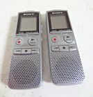 LOT OF 2 - SONY ICD BX-700 IC Handheld Digital Voice Recorder audio player