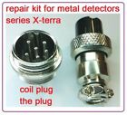 Repair kit plus coil connector unit with shrink tie for Minelab X-Terra 3/5/7