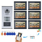 7inch Record Wired Wifi 6 Apartment/Family Video Door Phone Intercom System