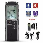 8/16/32GB LCD Digital Voice Activated Recorder Audio Sound Dictaphone MP3 Player