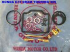 "HONDA C77  DREAM TOURING 305 CARBURETOR CARD REPAIR REBUILD KIT ""JAPAN""  [mi317]"