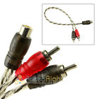 DS18 RCA Splitter 1 Female to 2 Male Y Connector Car Home Audio Cable PRORCA1F2M