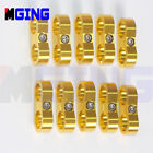 AN8 AN-8 8-AN 16.3mm Braided Hose Separator Fitting Clamp Cable Bracket GOLD 10P