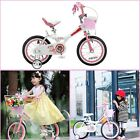 Bike Bicycles For Girls Kids 14 Inch With Training Wheels Sports Gifts Fun Pink