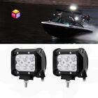 2X18W Flood BEAM Boat LED Marine Spreaderlight CREE LED Deck/Mast High Intensity