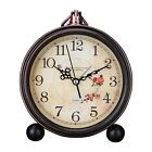 Alarm Clock High Grade Vintage Study Room Home Decoration Antique Bedside Timer