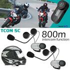 2PCS Freedconn TCOM-SC Motorcycle Helmet Bluetooth Intercom FM Headset 800M U5N6