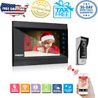 """Smart IP Video Door Phone 7"""" Monitor 1200TVL Camera Intercom Security Doorbell"""