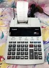 Canon P180-DH Printing Calculator 12 Digit 2 color Clock & Calendar w/Roll Paper