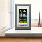 Wireless Indoor Weather Forecast Alarm Clock Thermometer Hygrometer Meter