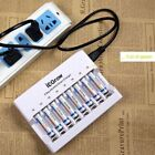 8-slot AA AAA battery Charger + 8pack AAA NI-MH Rechargeable Batteries #US