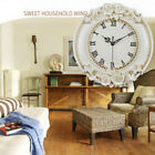 Vintage Mute Non Ticking Quartz Wall Clock Home Living Room Decorative