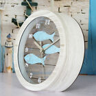 Non-ticking Cute Pattern Wooden Kid's Bedroom Alarm Clock - #7 Little Fish