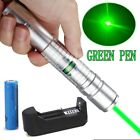 50Miles Green 532nm Laser Pointer Pen Visible Beam Light 18650 Battery Charger
