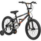 "18"" Mongoose Switch Boys' Freestyle Bike, Black - With Training Wheels"