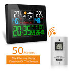 Temperature Humidity Wireless Weather Forecast Station Alarm and Snooze Clock