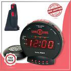 Sonic Alert Sonic Bomb Digital Loud Alarm Clock with Bed Shake