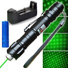 2in1 Belt Clip Green Laser Pointer 532nm 50Miles Visible Beam Light+Batt+Charger