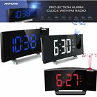 Mpow 5inch LED Display Digital Projection Alarm Clock FM Dual Alarm Clock w/USB