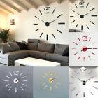 Modern Large 3D DIY Mirror Surface Art Wall Clock Sticker Home Office-Decor