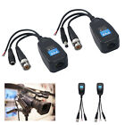 4X CCTV Coax BNC Video Data Power Balun Transceiver to CAT5e 6 RJ45 Connector