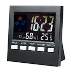 Weather Station Alarm Clock Thermometer Humidity Home Daily Clock Forecast Clock