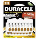 Duracell Button Cell Hearing Aid Battery 312 16/Pk DA312B16ZM09