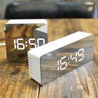 Creative USB LED Digital Alarm Clock Night Light Temperature Display Mirror Lamp