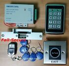 Metal RFID Card+Password Door Access Control+Fail-Secure Door Strike Lock+Remote
