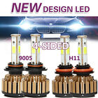 9005 + H11 Total 2600W 390000LM CREE LED Headlight Kit High & Low Light Bulb